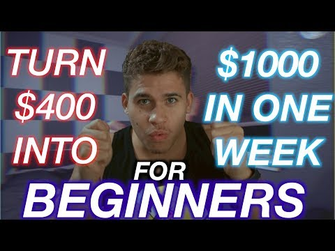 How I Turned $400 into $1000 In One Week With This Strategy!