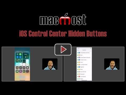 iOS Control Center Hidden Buttons (MacMost #1791)