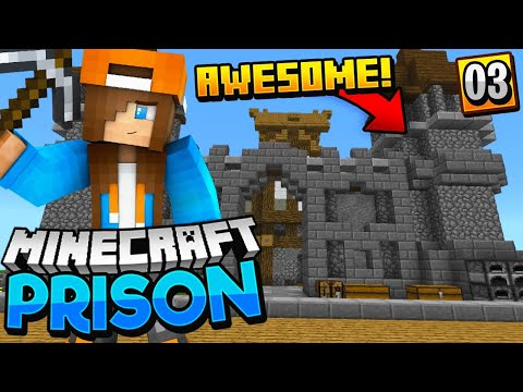 THEY BUILT A CASTLE!! - Minecraft Prisons EP.3 (Pocket WIN 10 Edition)