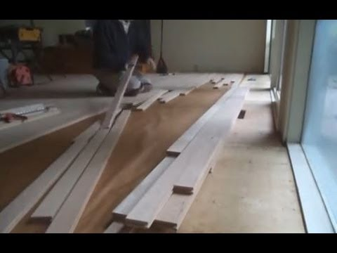 Unfinished Red Oak Hardwood Flooring Installation