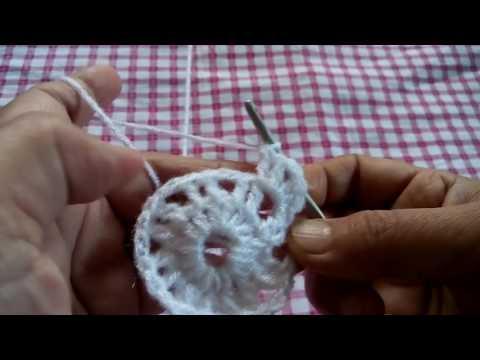 93 - Crochet Coaster for beginners (Hindi/Urdu) part-4(21/7/16