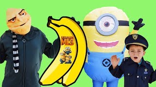 Despicable Me 3 Minion Stuart finds Bananas lots of laughs with Gru and Kid Cops silly Ryan funny ki