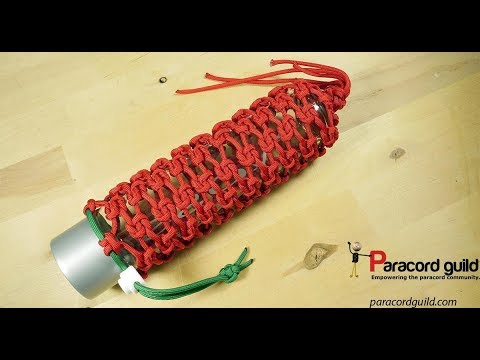 Reef knot paracord bottle wrap