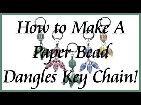 Paper Bead Dangles Key Chain