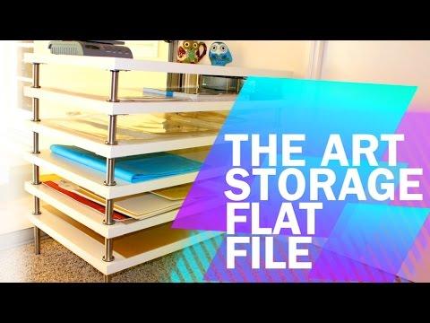 Tips & Tricks #1: DIY Art Storage Flat File with Ikea!