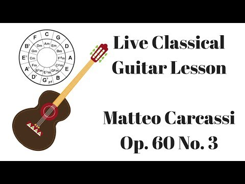 Matteo Carcassi Op. 60 No. 3 LIVE Classical Guitar Lesson
