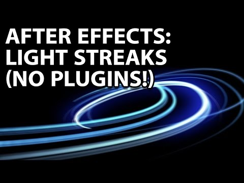 After Effects Tutorial: Awesome Light Streaks With No Plugins!