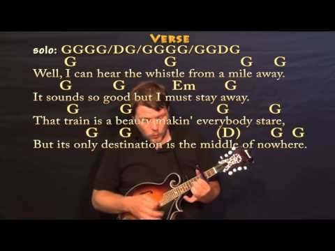 Long Black Train (Josh Turner) Mandolin Cover Lesson with Chords / Lyrics