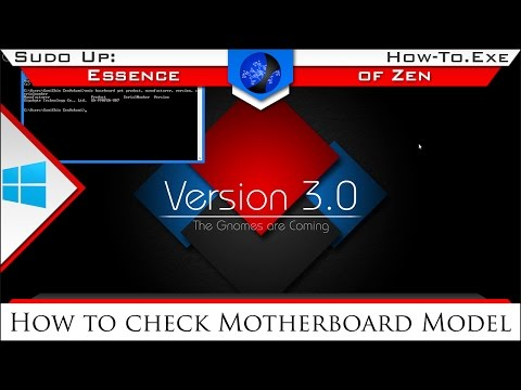 How To check Motherboard Model | How-To.exe -o $Windows