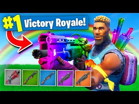 The *RAINBOW* SHOTGUN ONLY Challenge In Fortnite Battle Royale!