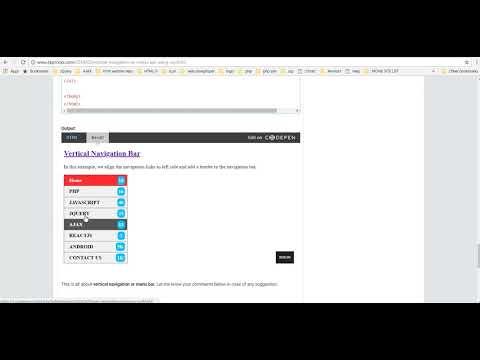 Vertical Navigation or Menu Bar Using CSS
