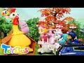 Baby Chicks Caught By T Rex PAW Patrol Rescue Team Super Panda Pretend Play ToyBus