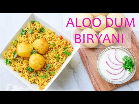 Aloo dum biryani in Instant pot || Baby potatoes Biryani || Vegetarian