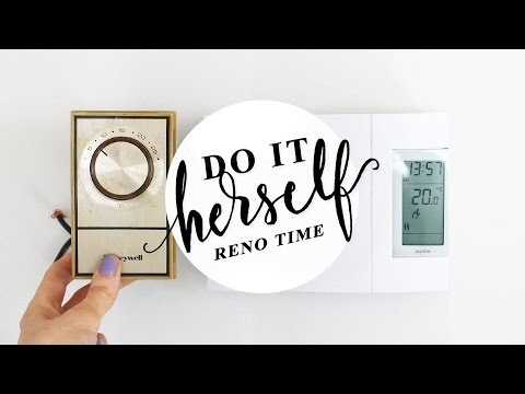 How To Replace an Analog Thermostat with Digital (Baseboard Electric Heaters) | DO IT HERSELF