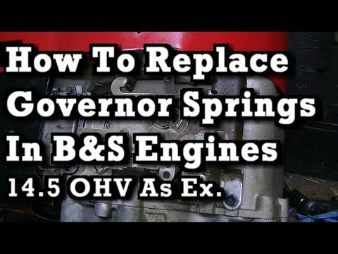 How To Replace / Install Governor Springs on Most B&S Engines (14.5 OHV as ex.)