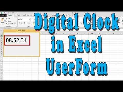How to make a countdown clock in excel 2007 -