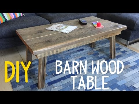 Build a Simple Barn Wood Table! (Rustic-Mod)