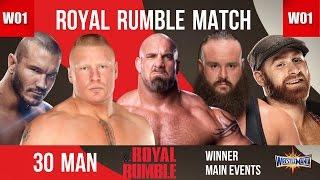 WWE Royal Rumble 2017 Predictions + Winner