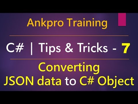 C# tips and tricks 7 - Converting  JSON data to C# Object (jsonplaceholder.typicode and json2csharp)