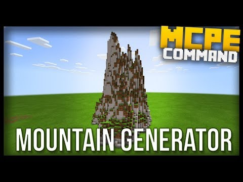 Fully Working MOUNTAIN GENERATOR in Minecraft BEDROCK edition! (MCPE)