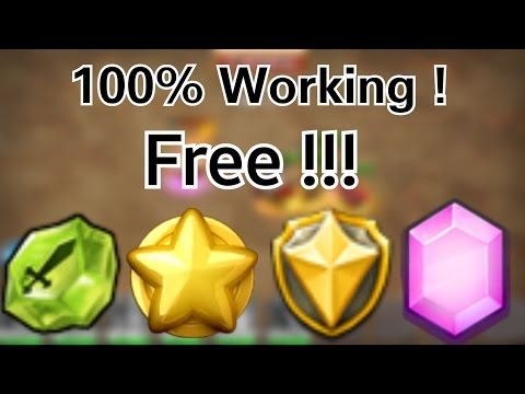 How to get free gems , hb , merits , shards in castle clash 100% working Codes