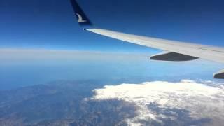 Lefkoşa/Nicosia Ercan to Ankara Esenboğa, AnadoluJet (Take Off & Landing - 29A) (March 7th, 2016) HD