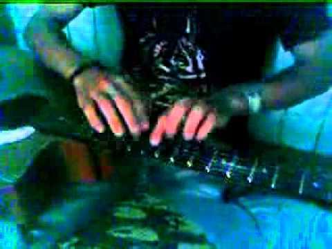 Aung Myo Linn - a Myanmar GTU Student - guitar tapping