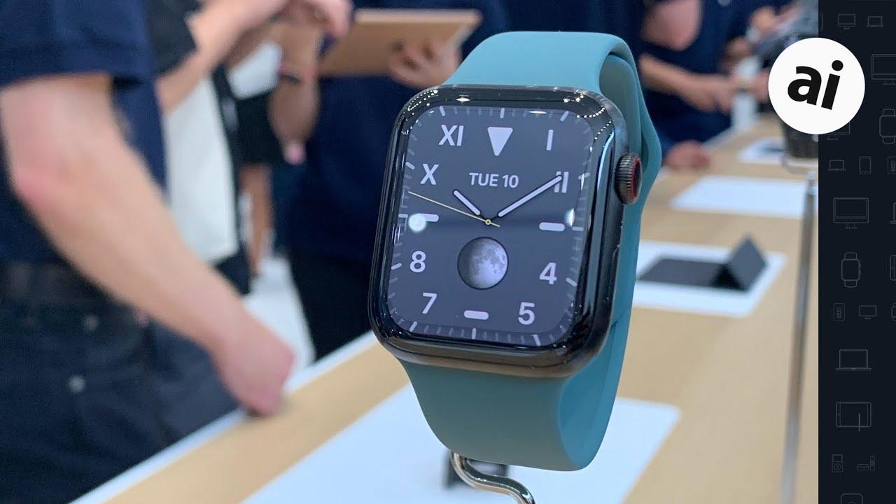 Apple Watch Series 5 -- Hands On!