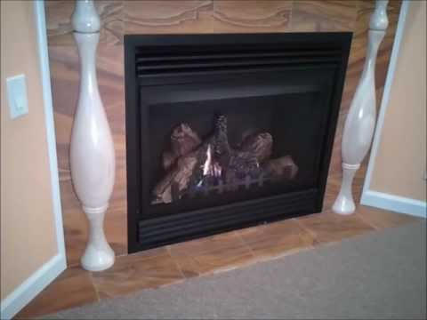 Overview of a gas log fireplace