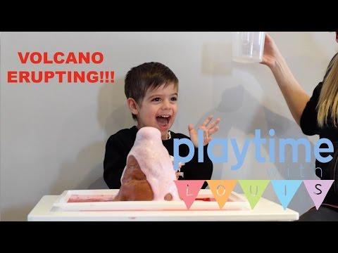 Louis's ERUPTING VOLCANO EXPERIMENT!