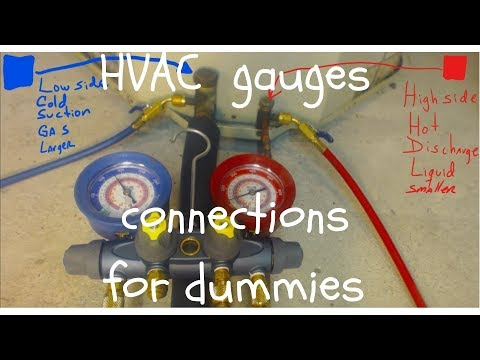 HVAC training gauges connections high side low side 410a