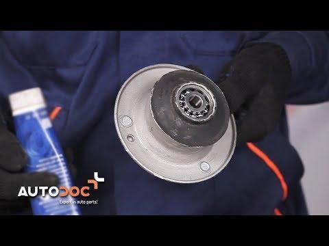 How to replace strut mount BMW 5 E39 TUTORIAL | AUTODOC