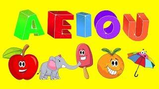 Vowels Song ♫ A E I O U Song ♫ Vowels for kids ♫ Pre - k & Kindergarten Activities
