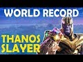 NEW WORLD RECORD TIE MOST THANOS KILLS IN A GAME BUILD BATTLES Fortnite Battle Royale