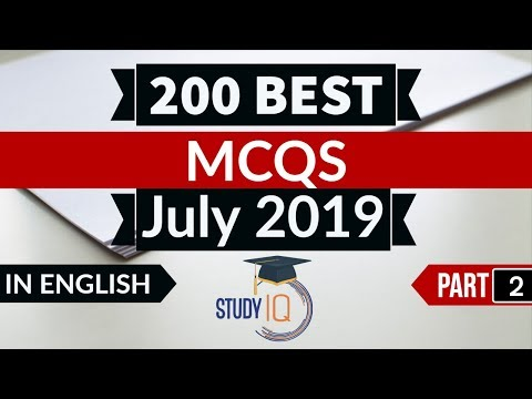 Best 200 JULY 2019 Current Affairs in ENGLISH Part 1 - Finest MCQ