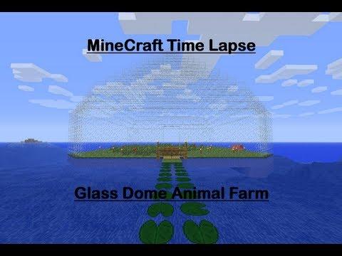 Minecraft Timelapse: Glass Dome Animal Farm
