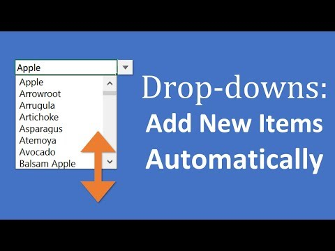 How to Add New Items to Excel Drop-down Lists Automatically
