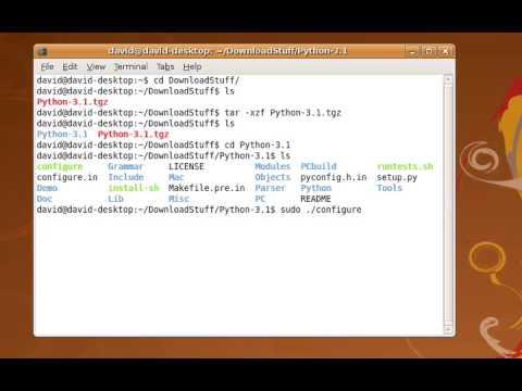 Install Python 3.1 using Linux
