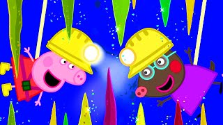 Peppa Pig Official Channel | Visiting the Caves with Molly Mole and Peppa Pig!