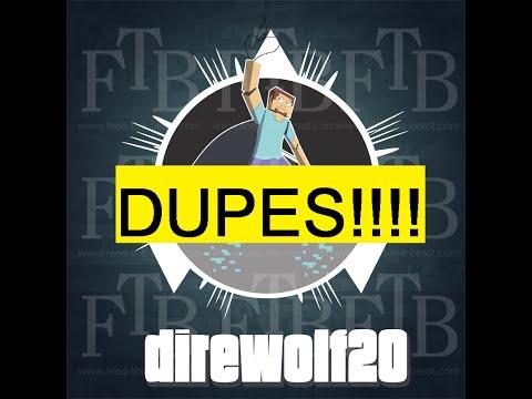 FTB Duplication Glitch - 2 dupes and 1 find - Direwolf20 1.6.4 - Unleashed