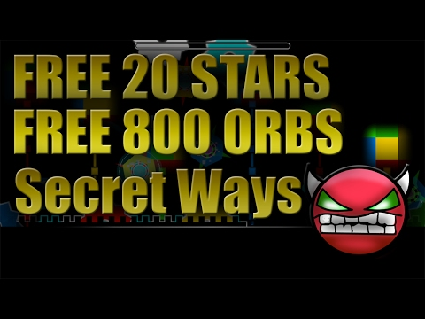 Geometry Dash 2.1 / FREE 20 STARS AND FREE 800 ORBS. SECRET WAYS