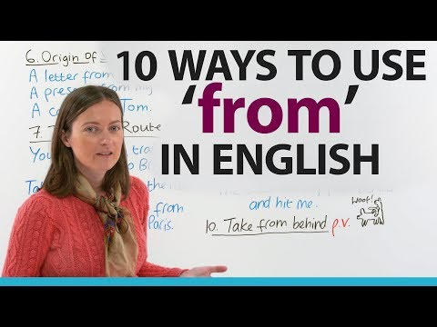 Learn 10 ways to use 'FROM' in English