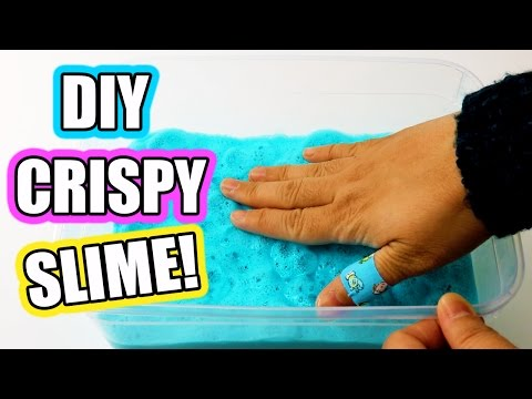 Crispy Bubbly SLIME DIY! How To Make Easy Crispy Slime Without Soap !!!