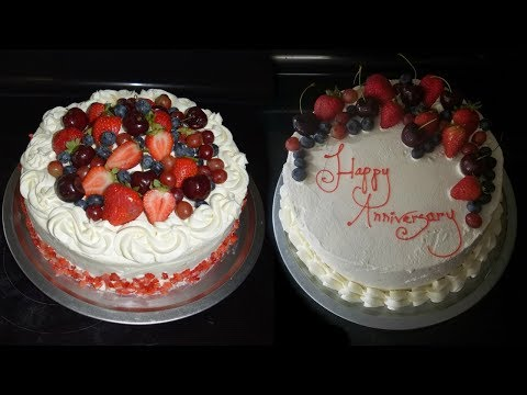 Pastel de tres leches decoración con fruta 🎂 decorating three milk cake