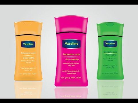 How to Make Body Lotion Pack Design || Vaseline's Pack Design || illustrator Bottal Design Tutorial
