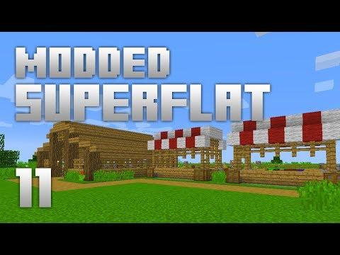 ►Modded Superflat - FARM MARKETS!   Ep. 11   Modded Minecraft Survival◄