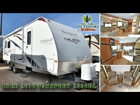 USED 2010 PASSPORT 2850RL TRAVEL TRAILERS (U824)