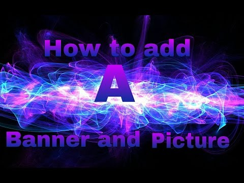 How to add a banner/photo for your youtube channel on your phone or tablet.