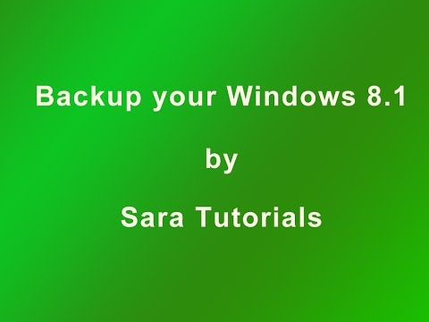 How to take Windows 8.1 OS backup before install Windows 10 Technical preview