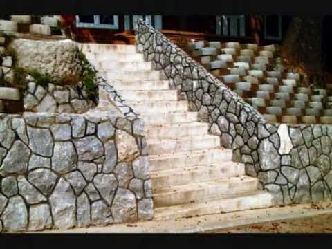 The best works of handmade stone, stone walls, stone fences...